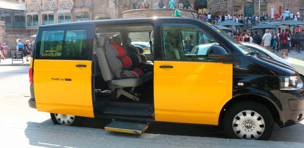 baby seats taxi barcelona